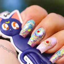 Image result for sailor moon nails Sailor Moon Nails, Image