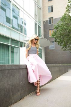 maxi + edgy sandals #theeverygirl