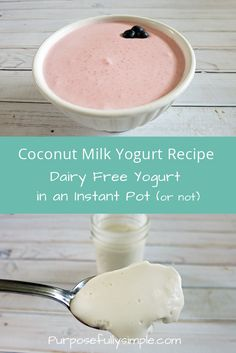 Coconut Yogurt Recipe: Dairy Free Yogurt in an Instant Pot Looking for a Coconut Yogurt Recipe? Here is an easy and nutritious recipe you can make in an instant pot or just on your kitchen counter. Coconut Yogurt Recipe, Instant Pot Yogurt Recipe, Vegan Yogurt, Yogurt Recipes, Siggis Yogurt, Yogurt Popsicles, Yogurt Smoothies, Yogurt Parfait, Plain Yogurt