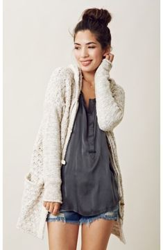 free people TURN UP THE SUN TOGGLE SWEATER COAT on shopstyle.com