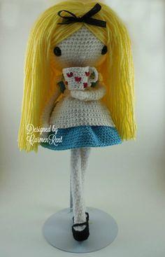 Alice Amigurumi Doll Crochet Pattern PDF by CarmenRent on Etsy