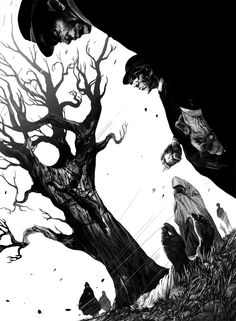 Amazing Black & White Illustrations by Nicolas Delort, art,