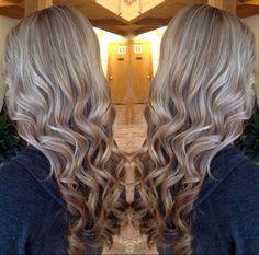Heavy blonde highlight