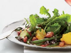 This looks like a refreshing summer salad - Grilled Green Bean Salad with Lentil Vinaigrette Recipe   http://aol.it/1w6W9yq
