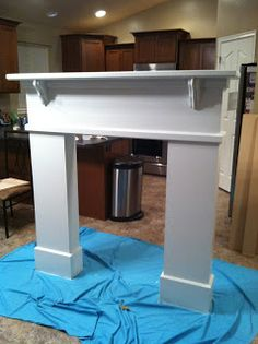 DIY Fireplace Mantel, step by step instructions from Fidlers Under One Roof