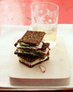 Mother's Day Recipes // Radish Tea Sandwiches Recipe