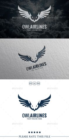 Owl  Logo Design Template Vector #logotype Download it here: http://graphicriver.net/item/owl-logo/10556460?s_rank=1322?ref=nexion