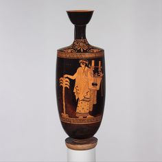 Attributed to the Nikon Painter | Terracotta lekythos (oil flask) | Greek, Attic | Classical | The Met