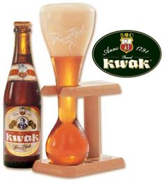 Pauwel #Kwak - Kwak has a deep amber color and smells of caramel and dark sugar. Its taste is of caramel, toffee and even some hints of bananas. There is a bit of spiciness, too, which I am noticing for the first time tonight. The higher ABV is apparent, but the beer remains easily drinkable regardless.