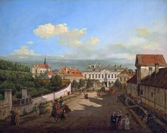 Blue Palace in Warsaw by Bernardo Bellotto, 1779 (PD-art/old), Zamek Królewski w Warszawie (ZKW), commissioned by Stanislaus Augustus, the palace was given by Stefan Potocki in 1726 to Augustus II, who in turn presented it to his daughter Anna Orzelska
