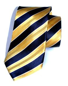 knightsbridge   PRODUCT PHOTOGRAPHY. Gold and Navy diagonal stripes 100% silk tie