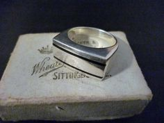 Unique vintage men's sterling silver signet ring - 925 - UK Q - US 8.25 by MalvernJewellery on Etsy