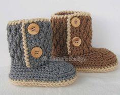 Construction Boot Baby Boys Crochet Boot Pattern Steelcap