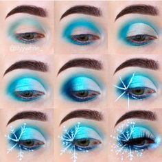 christmas makeup taking you back to a Christmas look! Im giving my eyes a rest, they are grumpy at the moment Products - inglot_australia - teal<br> Teal Makeup, Colorful Makeup, Eyeshadow Makeup, Makeup Cosmetics, Makeup Brush, Christmas Makeup Look, Holiday Makeup, Teal Christmas, Frozen Makeup