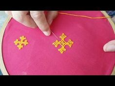 Hand embroidery designs. Hand embroidery stitches tutorial. kutch work motif. - YouTube