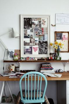 Lobster & Swan's little creative space! We love the daffodils! | image: Lobster & Swan
