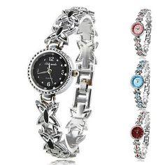 Women's Quartz Analog Butterfly Alloy Band Bracelet Watch (Assorted Colors) - http://www.specialdaysgift.com/womens-quartz-analog-butterfly-alloy-band-bracelet-watch-assorted-colors/