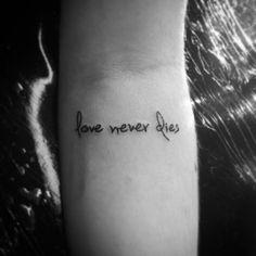 Quote: love never dies