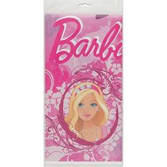 "Plastic Barbie Table Cover, 84"" x 54"" - Walmart.com"