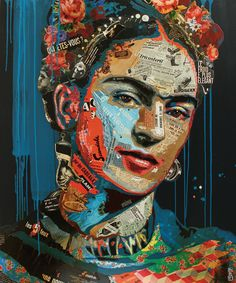 "Artist : Arnaud Bauville ""Luna Caliente"" 100x120 cm"