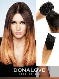 zwei farben ombre indisch remy clip in hair extensions od001 ombre ...