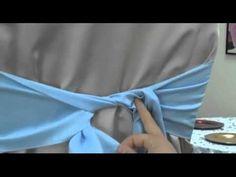 second noeud comment faire un noeud sur une housse de chaise - YouTube
