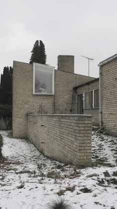 Private house of the Danish architects Eva Koppel (1916 - 2006) and Nils Koppel (1914 - 2009) in Gentofte, #Denmark