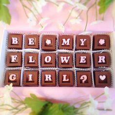 Geschenk Blumenmädchen aus Schokolade