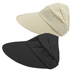 ee6088b31cf63 HindaWi Sun Hats For Women Wide Brim UV Protection Summer Beach Visor Cap  Review