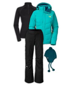 The North Face Women's Skiing Outfit: Ski the Steeps