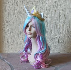Princess Celestia costume wig and tail