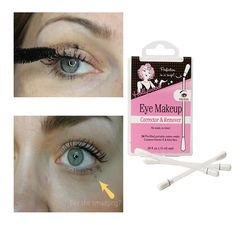 We all can suffer from panda eyes through-out the day, thats why our amazing Eye Makeup Remover Swabs are so handy to have in your bag. Pre-Filled with a gentle eye makeup remover, they are ideal for quick on-the-go touch ups and a great way to get rid of unsightly panda eye. http://www.secretfashionfixes.com/p/eye-makeup-corrector-and-remover/hweyerem