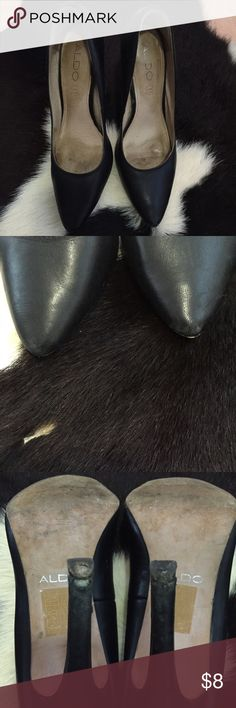 Aldo Shoes Aldo Shoes. Need new heel taps. Price firm unless bundle. Aldo Shoes Heels