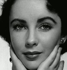 """Elizabeth Taylor is a great beauty… She has heavy black hair and brows that are also black and thick, but not a whit too thick to frame her large, luxuriantly lashed blue eyes, which darken into violet in the least shadow. Her complexion has been described by an ecstatic publicity man as ""a bowl of cream with a rose floating in it."" Cameramen have paid her Hollywood's ultimate compliment to beauty: ""She doesn't have a bad angle.""  - Time Magazine, August 1949"