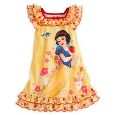 Disney Store Snow White Little Girls' Yellow Ruffles Nightshirt - posts coach Teen Girl Fashion, Kids Fashion, Toddler Girl Outfits, Kids Outfits, Pink Wardrobe, Arte Do Kawaii, Disney Merchandise, Disney Girls, Disney Princess