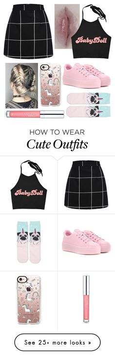 """""""Outfit #313"""" by selffandom on Polyvore featuring Prada, Kenzo, Casetify and Forever 21"""