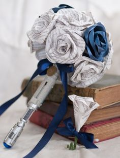 The Perfect Flower Bouquet for the Whovian Bride | Dr. Who wedding, geek wedding