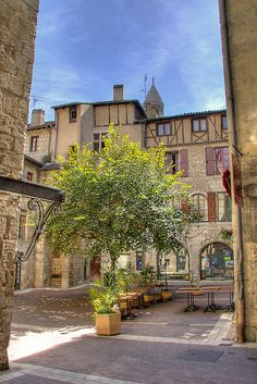 A square in Perigueux, Aquitaine, France