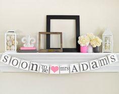 Soon To Be Mrs Banner Classic Wedding Decor by ABannerAffair