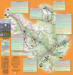carte de l'espace VTT du Grand Briançonnais 2016