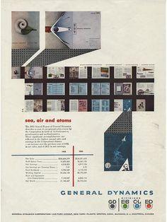 General Dynamics - Sea, Air and Atoms, Erik Nitsche