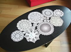 Custom MADE Table Runner, Wedding Table Decoration With Handcrocheted Vintage Doilies on Etsy, $68.00