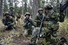 Japanese Self-Defense Forces soldiers during a training exercise
