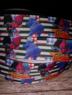 NEW - Trolls #3 Grosgrain Ribbon by RibbonstoBowsandMore on Etsy