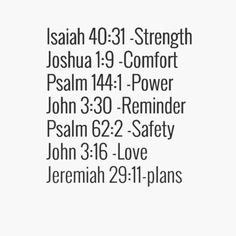 Bible Passages to Remember! #Strength #Comfort #Power #Reminder #Safety #Love #Plans #Bible #Passages #Words #Scripture #Words_to_Live_By