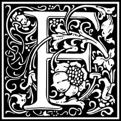 Free Clipart: William Morris Letter F   Symbol   kuba