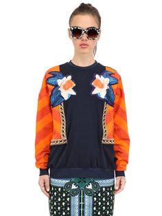 Emma Cook Luxe AppliquÉ Cotton Sweatshirt