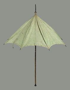 Green cotton parasol. American, late 18th century. In the Museum of Fine Arts Boston.