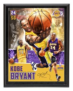 Kobe Bryant Los Angeles Lakers Sublimated 10x13 Collage Photo Plaque