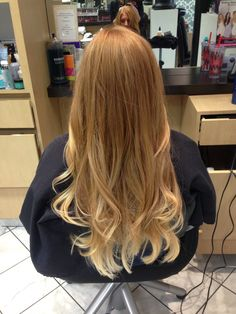 Beautiful strawberry blonde ombré done by Mallory @ Carlton Hair in Newport Beach, CA